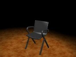 Black arm chair 3d preview