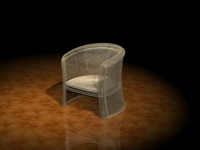 Mesh tub chair 3d rendering