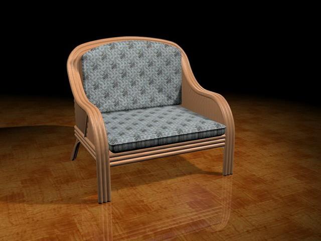Antique tub chair 3d rendering