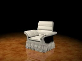 Fabric sofa chair 3d preview
