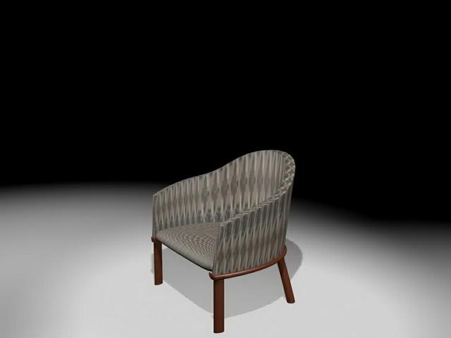 Vintage tub chair 3d rendering