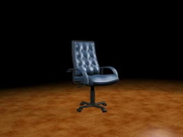 Leather office chair 3d model preview