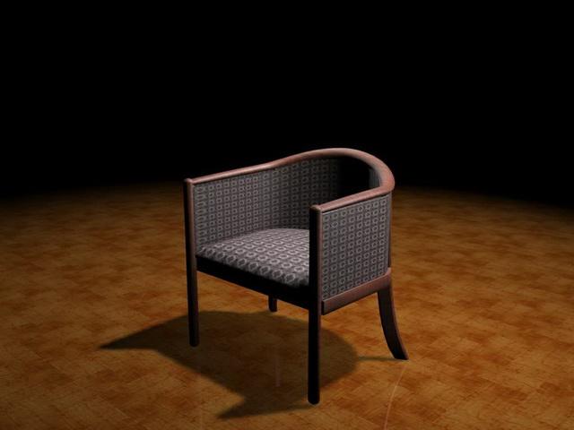 Modern tub chair 3d rendering