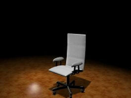 High back office chair 3d model preview