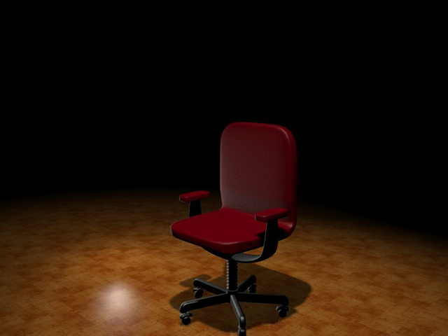 Office staff chair 3d rendering