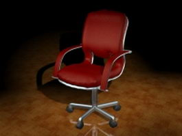 Office swivel chair with arms 3d preview