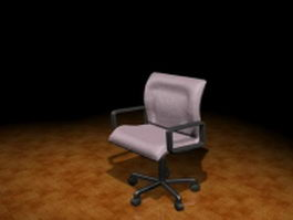 Mesh task chair with arms 3d preview