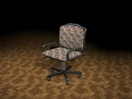 Office operator chair 3d model preview