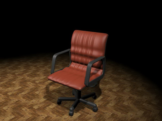 Executive office chair 3d rendering