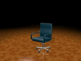 Blue task chair 3d model preview