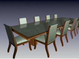 Office conference room furniture sets 3d preview