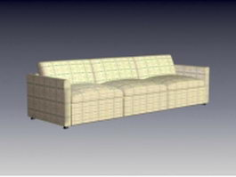 Fabric couch sofa 3d preview
