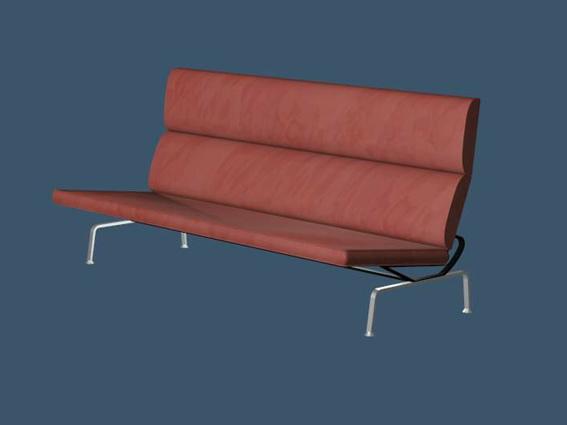 Wood garden bench 3d rendering