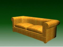 Two seater couch 3d preview