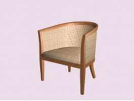 Accent tub chair 3d preview