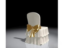 Wedding reception chair 3d preview