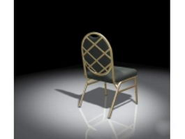 Elegant dining chair 3d model preview