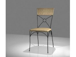 Wrought iron dining chair 3d model preview
