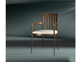 Wood restaurant chair 3d preview