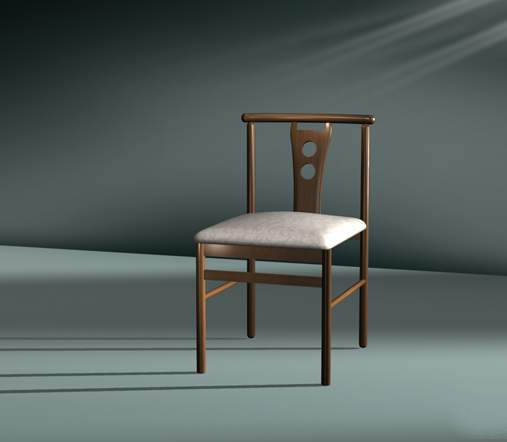 Upholstered dining chair 3d rendering