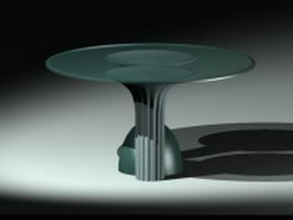 Unique glass coffee table 3d preview