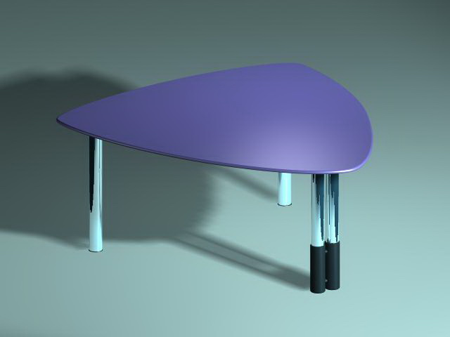 Triangle coffee table 3d rendering