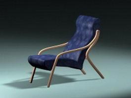 Vintage recliner chair 3d preview