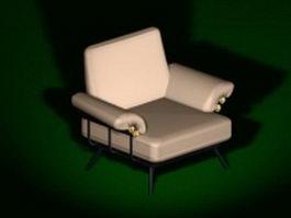 Modern sofa chair 3d model preview