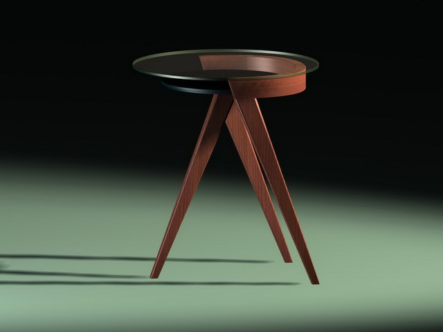 Small coffee table 3d rendering