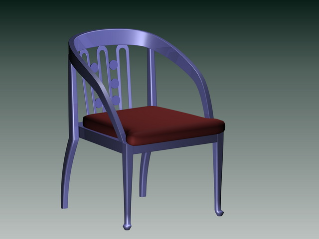 Wood barrel chair 3d rendering