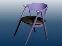 Patio bar chair 3d preview