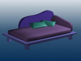 Wooden day bed 3d preview