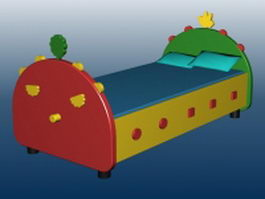 Kids bed furniture 3d preview