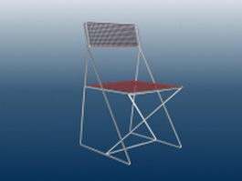 Wire mesh chair 3d preview