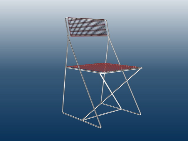 Wire mesh chair 3d rendering