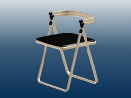 Metal outdoor bar chair 3d preview
