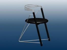 Stylish bar chair 3d preview
