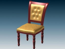 Upholstered dining chair 3d model preview