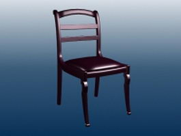Wood dining chair 3d preview