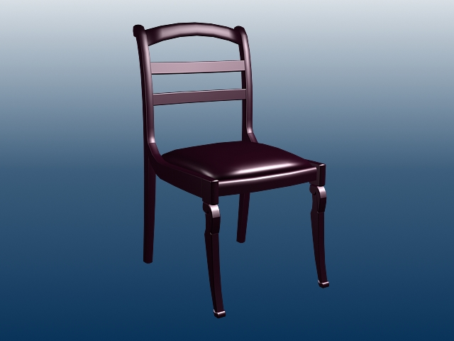 Wood dining chair 3d rendering