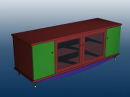 Console cabinet furniture 3d model preview