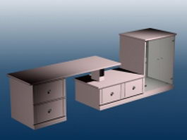 Wall units furniture 3d preview