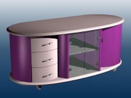 Modern console cabinet 3d preview