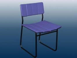 Outdoor bar chair 3d preview