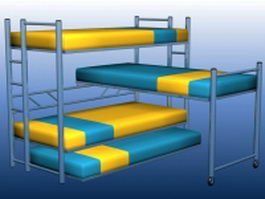 Dormitory bunk beds 3d preview