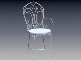 Outdoor iron chair 3d preview