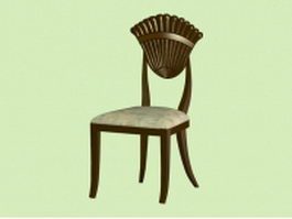 Antique dining chair 3d model preview