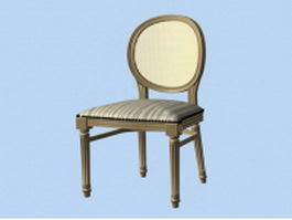Victorian dining chair 3d model preview