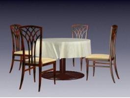 Dining room sets 3d model preview
