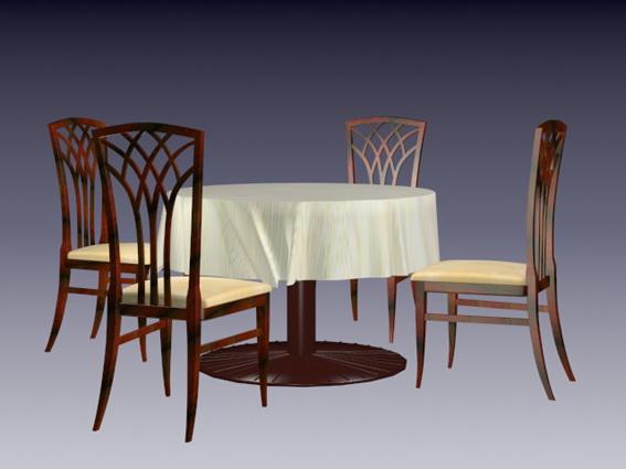 Dining room sets 3d rendering